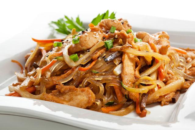 крахмальная лапша с мясом по китайски рецепты с фото