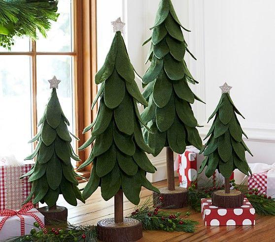 Фото: pinterest. Фетровые елочки