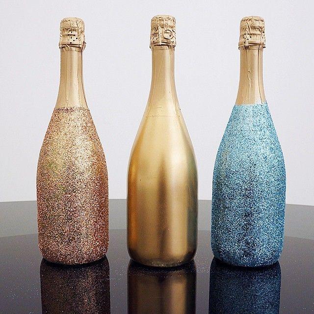 Фото: pinterest. Декорированные бутылки шампанского