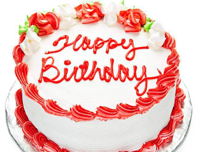 С днем рождения на английском на торте