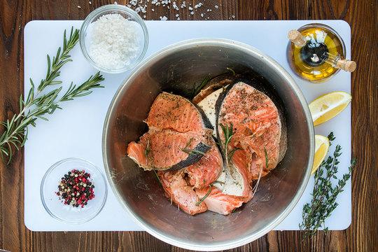 рецепт маринада для стейка из рыбы разу была юге