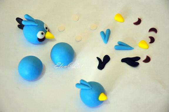 Злые птички из мастики мастер класс