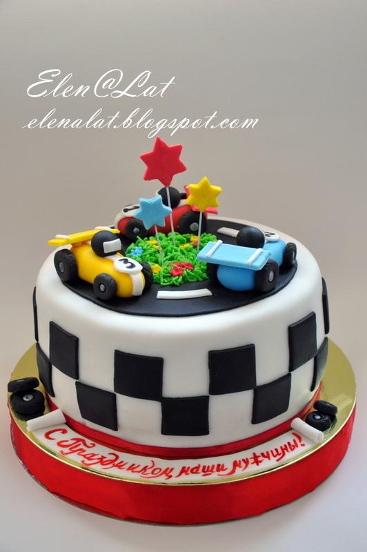 торт машинка из мастики фото