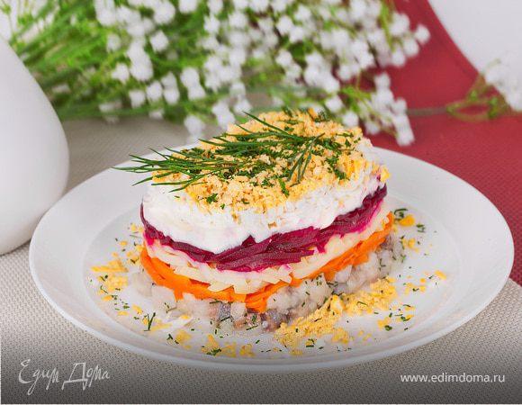 Рецепт салат с свеклой и грибами