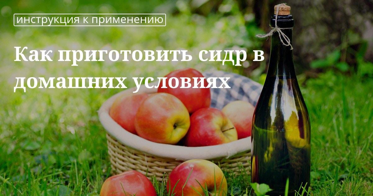 Яблочный сидр из цельных яблок