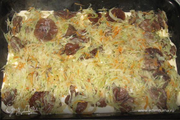 капустная шарлотка в духовке рецепт с фото