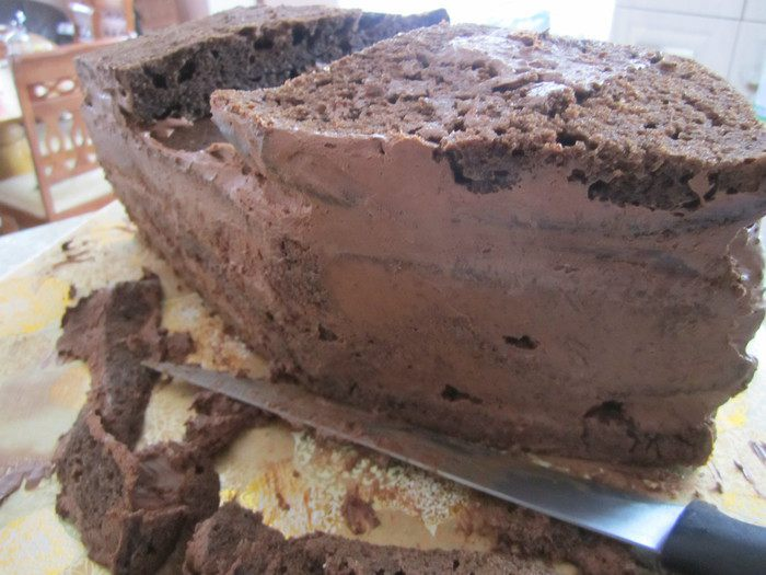 После того как торт отстоялся