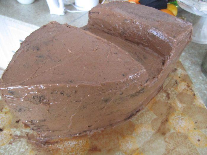 После охлаждения, торт