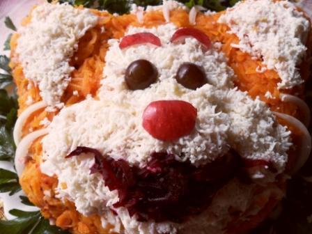 Рецепт: Салат Рыжий тигренок - все рецепты России