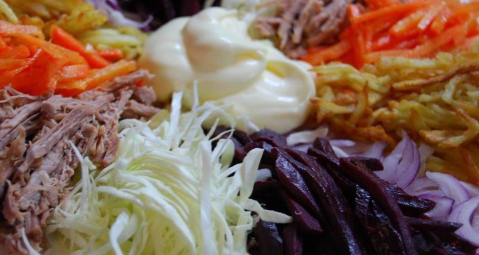 Татарский салат рецепт с фото пошаговый Едим Дома