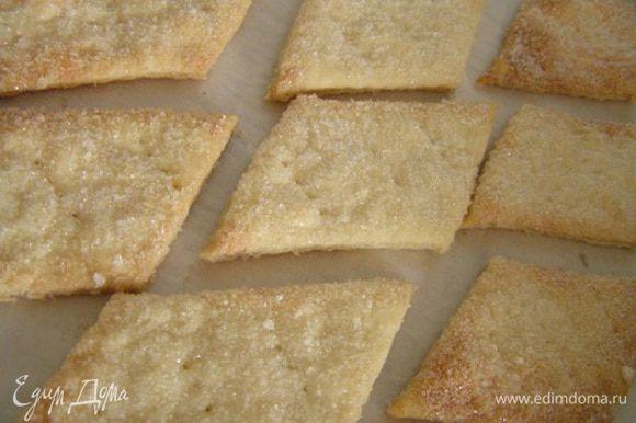 Выложить печенье на противень, проколоть вилкой в нескольких местах. Выпекать при 200*С около 15-25 минут до румяного цвета.