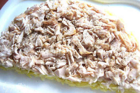 салат апельсиновая долька с курицей пошаговый рецепт с фото