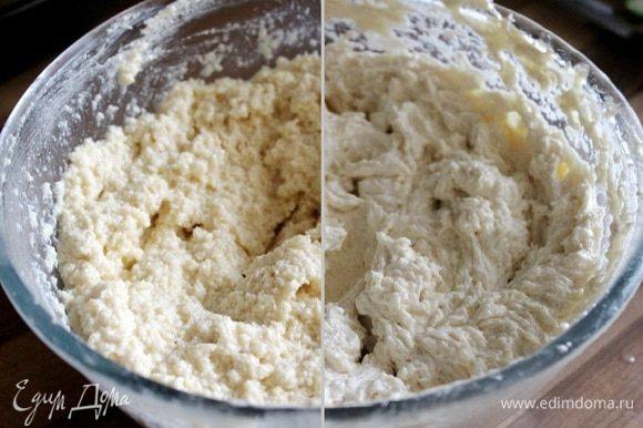 По ложке вмешать кокосовую массу в масло, а затем взбить крем миксером. Крем взбивается не быстро.