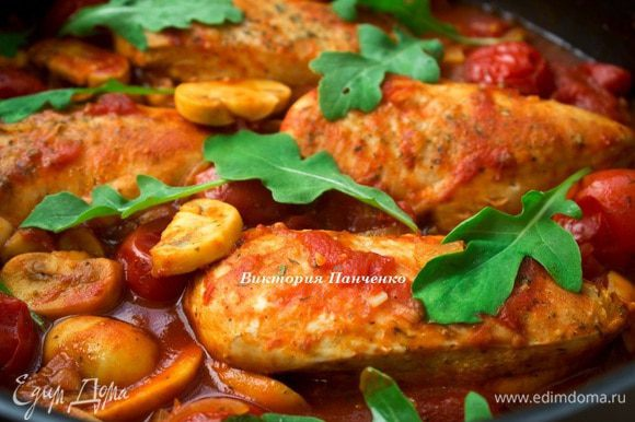 Курица по-итальянски (Каччиаторе), рецепт приготовления с простой пошаговой инструкцией с фото.