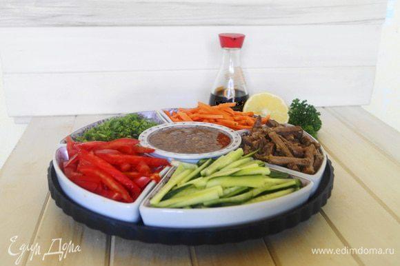 Салат с говядиной и соевым соусом рецепт с 49