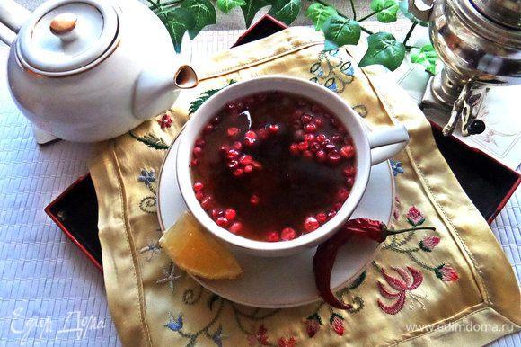 брусничный чай для похудения