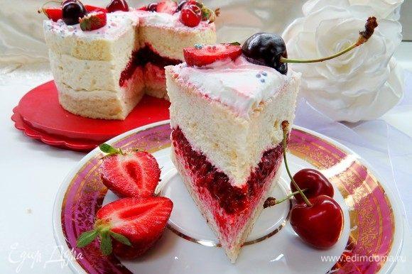 Em seguida, corte e aproveite um delicioso bolo de verão.  Tenha um bom chá!