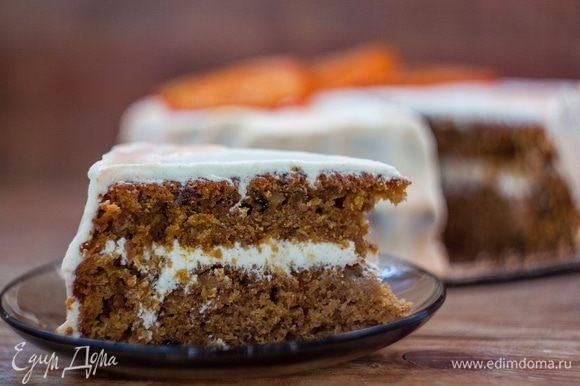 pastel de zanahoria es buena, ya que no necesita ningún tipo de impregnación adicional, es inicialmente muy suave y jugosa.  ¡Buen provecho!