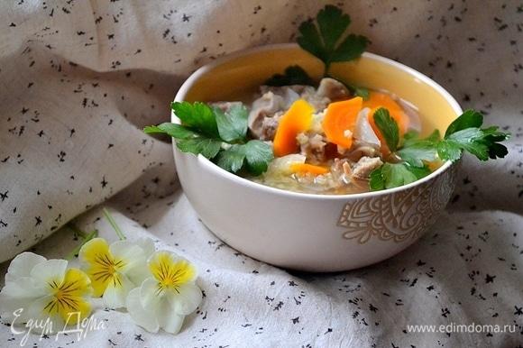 Для любителей супов с куриными потрошками — праздник!