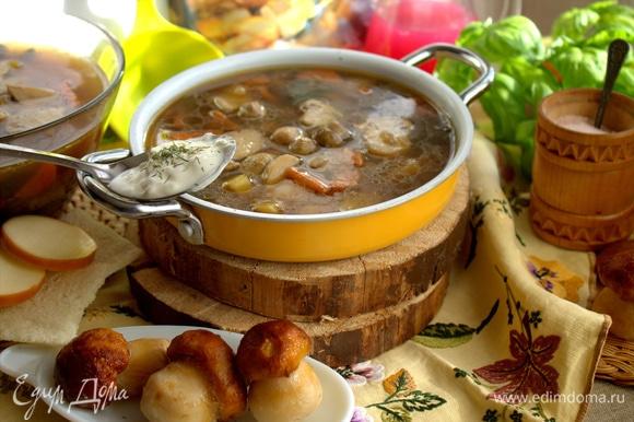 Грибной — один из моих любимых супов.