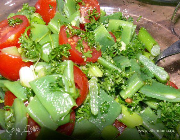 Простой салат из стручковой фасоли рецепт с фото
