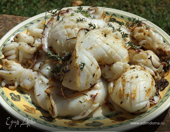 Лангустины с чесноком рецепт