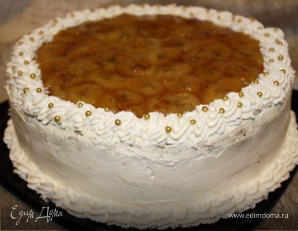 Банановый торт пошагово
