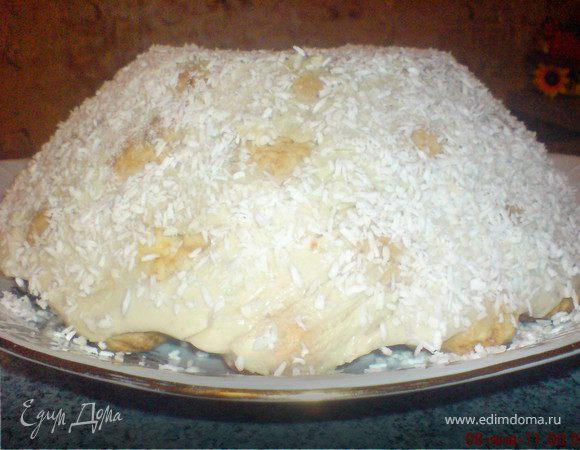 Как приготовить торт снежная горка фото