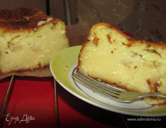 Творожный кекс с яблоками в духовке рецепты