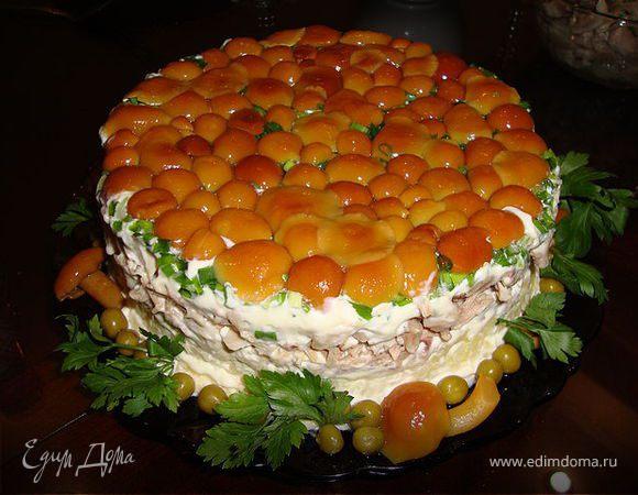 Рецепты сфото грибных салатов