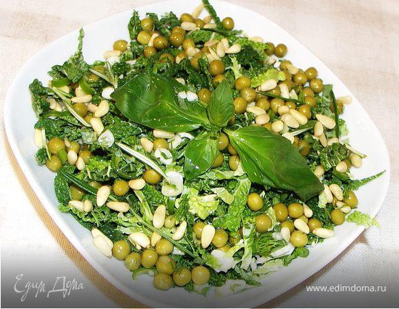 зеленый горошек с курицей салат рецепт