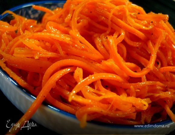 Корейская морковка при похудении