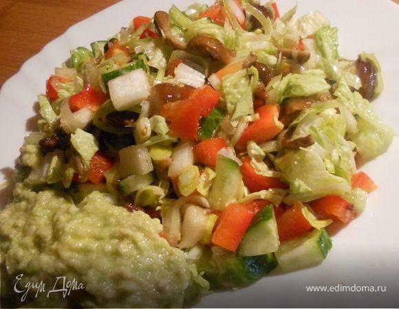 СЕКРЕТИКИ, теплый салат с замороженными огурцами классных
