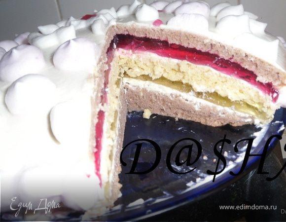 Торт трёхслойный пошаговый рецепт с фото