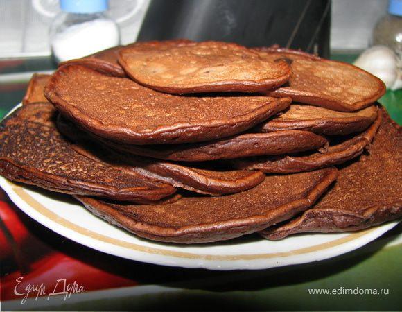 Шоколадные оладушки на кефире пышные рецепт