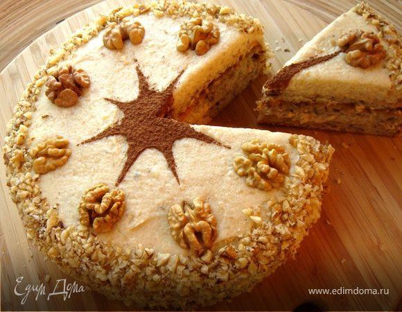 Украшение тортов грецким орехом