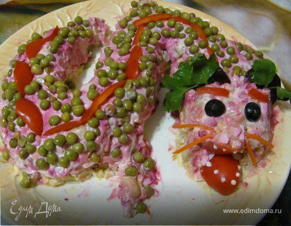 Фото салат дракоша