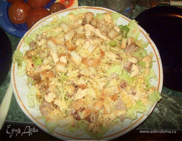 Салат цезарь пошаговый рецепт с от юлии высоцкой