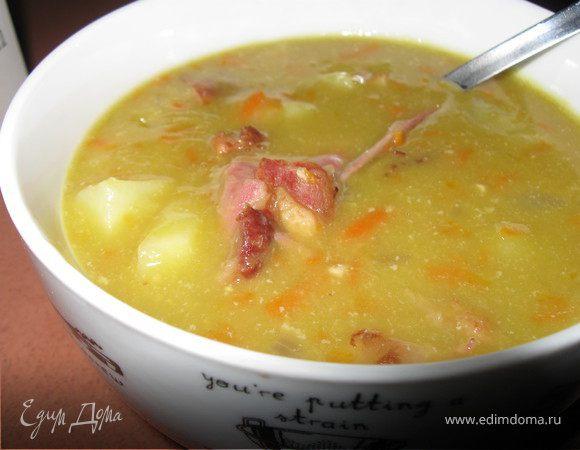Рецепт горохового супа с копчёной курицей фото