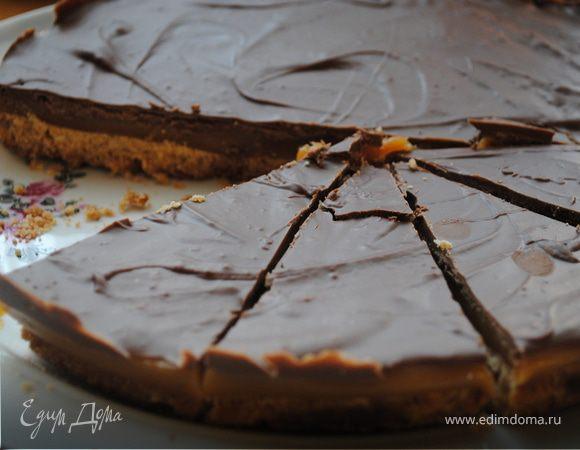 Торт твикс без выпечки рецепт с фото