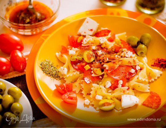 салат с бантиками рецепт с фото