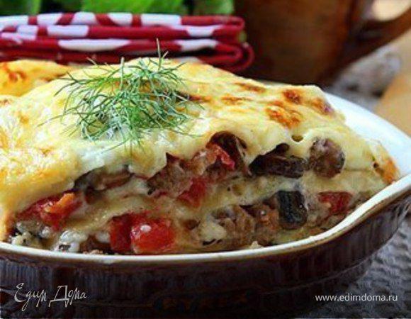 Лазанья с сыром и мясом рецепт