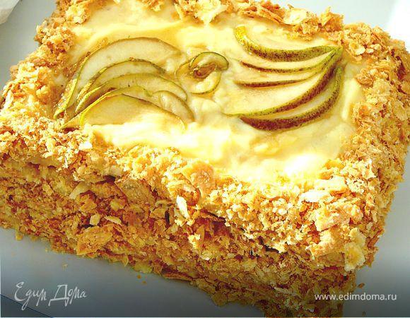 Торт наполеон с коньяком пошаговый рецепт с фото