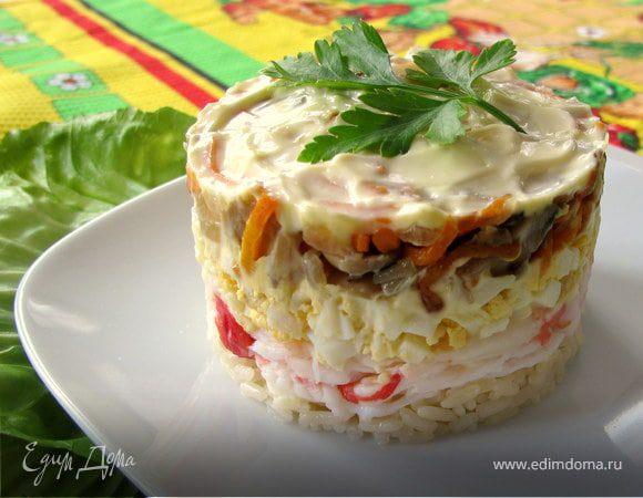 Рецепты салата с крабовым мясом с фото