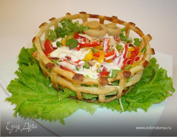 Салат в тесте