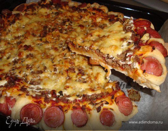 Пицца с вкусным краешком рецепт с фото