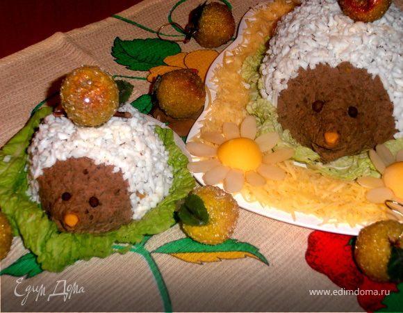 Печеночные ежики рецепт с фото