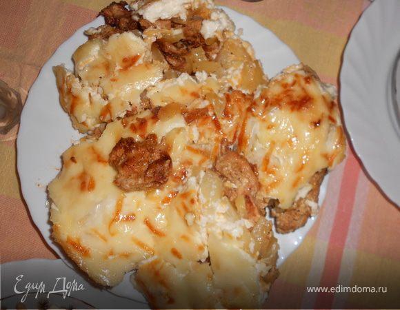 Курица с ананасами в духовке пошаговый рецепт с