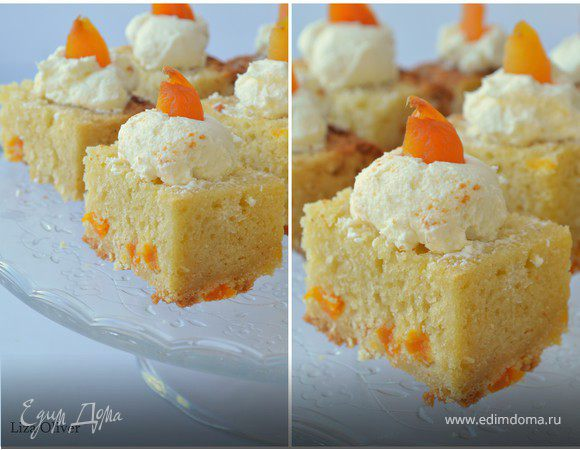 Пирожное с творожным кремом рецепт фото