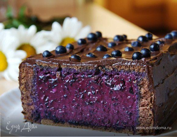 Черничный торт с творожным кремом